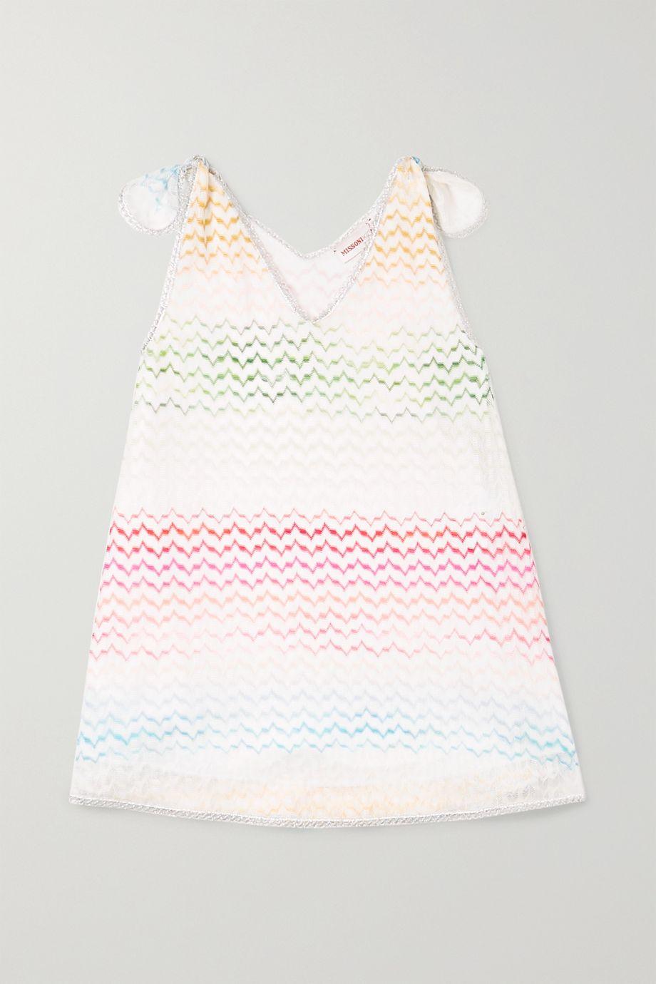 Missoni Kids Metallic-trimmed crochet-knit dress
