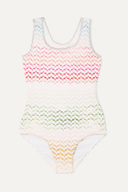 Crochet-knit swimsuit
