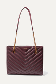Tribeca small quilted textured-leather tote