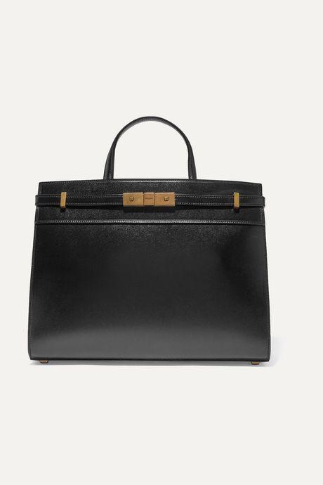 Black Manhattan small leather tote | SAINT LAURENT aen7zc