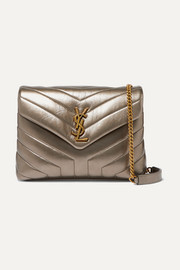 Loulou metallic quilted leather shoulder bag