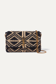 SAINT LAURENT Kate medium raffia shoulder bag