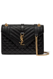 SAINT LAURENT Envelope quilted leather shoulder bag
