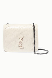 SAINT LAURENT Niki quilted crinkled-leather shoulder bag