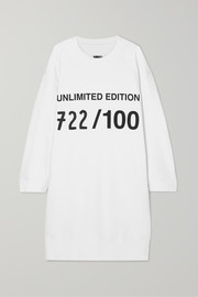 MM6 Maison Margiela Oversized painted printed cotton-jersey dress