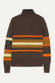 MM6 Maison Margiela Striped wool-blend turtleneck top