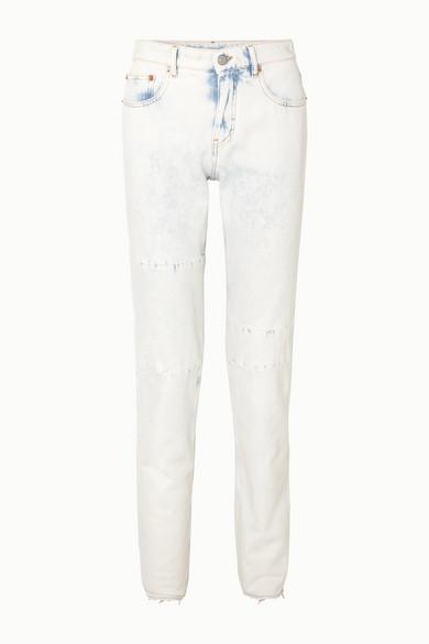 Mm6 Maison Margiela Jeans Bleached high-rise straight-leg jeans
