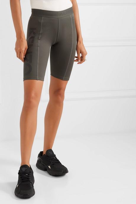 Printed stretch-cotton shorts