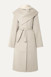 LE 17 SEPTEMBRE Convertible belted wool-blend coat