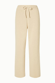 Ribbed cotton wide-leg pants