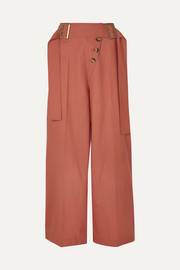 Stevie belted wool wide-leg pants