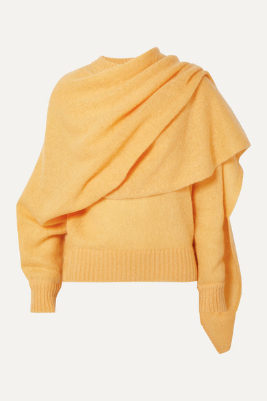 Rejina Pyo Knits Colette draped mohair-blend sweater