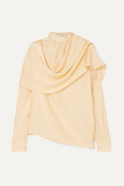 Ira draped silk-satin blouse