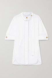 Briana cotton-poplin shirt