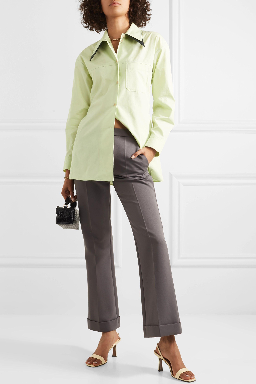 REJINA PYO Rory oversized cotton-blend shirt