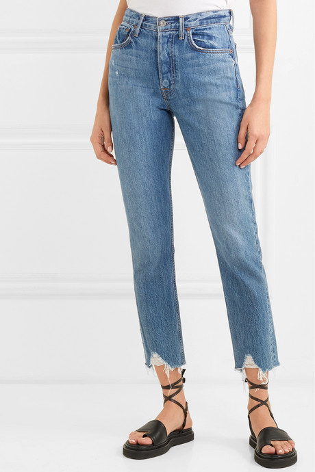 Karolina distressed high-rise skinny jeans
