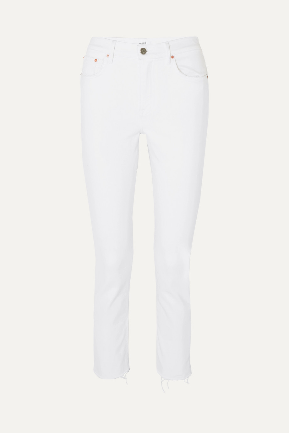 GRLFRND Reed cropped mid-rise slim-leg jeans
