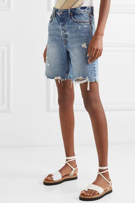Marjan distressed denim shorts