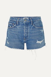 Helena Jeansshorts in Distressed-Optik