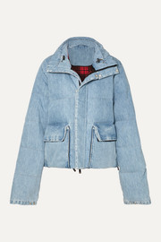 Unravel Project Quilted denim coat
