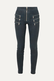 Unravel Project Zip-detailed leather skinny pants