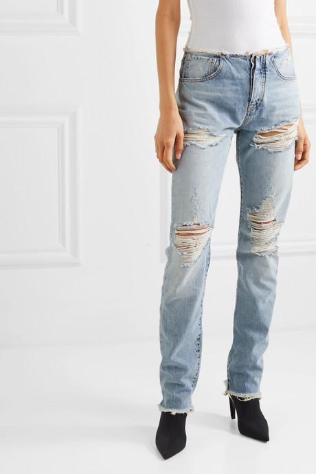Vinta Spray distressed low-rise skinny jeans