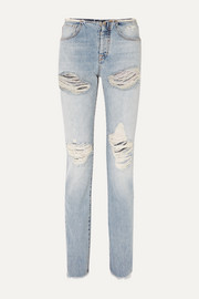 Unravel Project Vinta Spray distressed low-rise skinny jeans