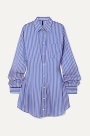 Unravel Project Striped silk shirt dress