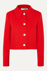 COURREGES Cropped wool-twill jacket
