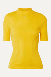COURREGES Geripptes Oberteil aus Stretch-Jersey