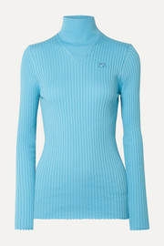 COURREGES Ribbed cotton turtleneck sweater
