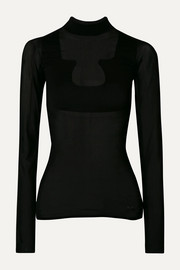 COURREGES + Gerbe stretch-jersey turtleneck top