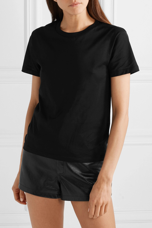 SAINT LAURENT Essentials T-Shirt aus Baumwoll-Jersey mit Applikation