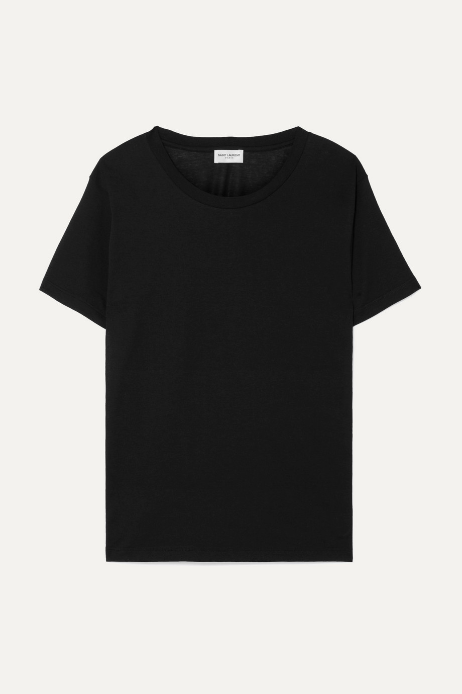 SAINT LAURENT Essentials T-Shirt aus Baumwoll-Jersey mit Applikation