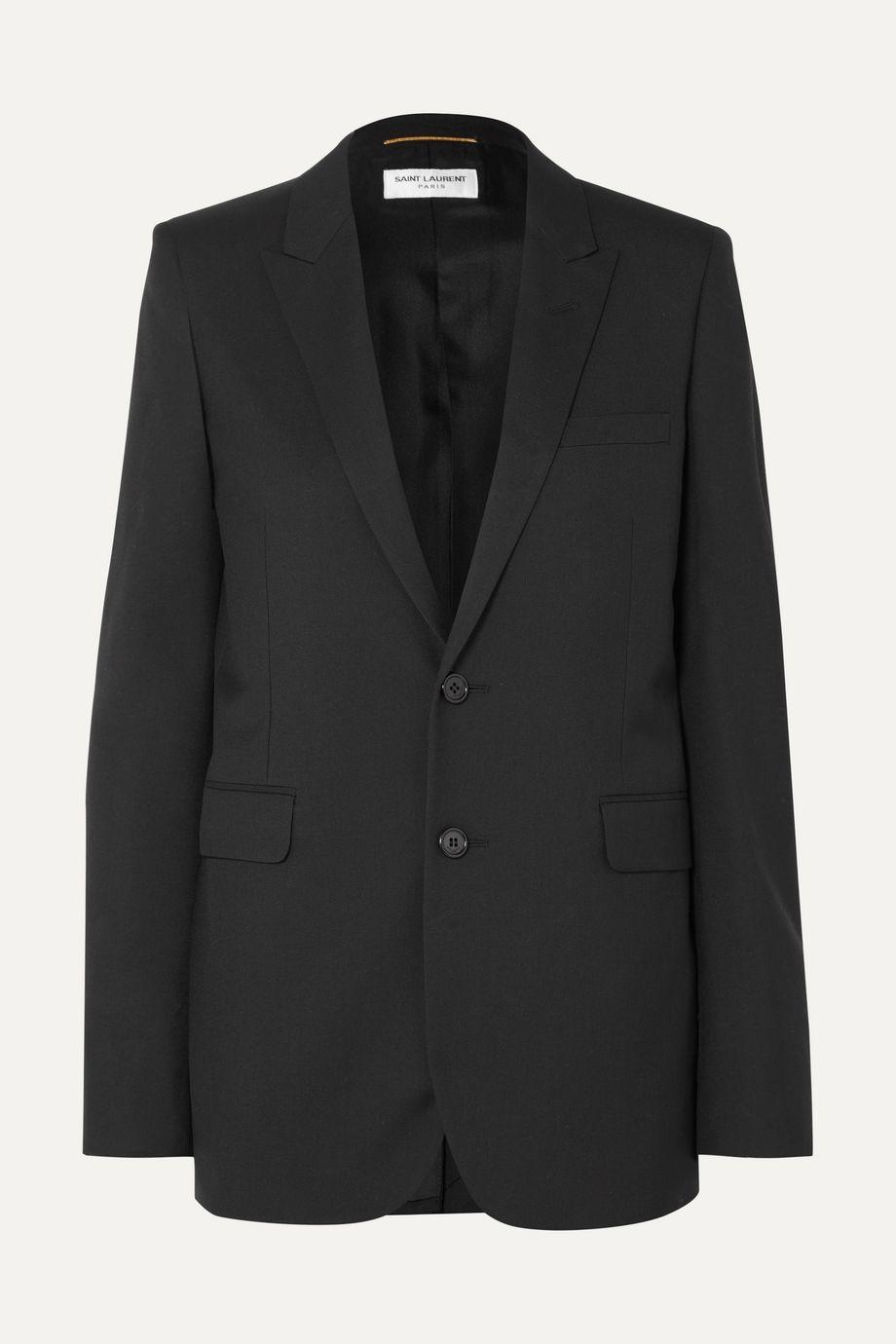 SAINT LAURENT 羊毛华达呢西装外套