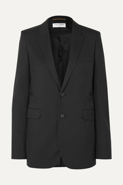 SAINT LAURENT Wool-gabardine blazer