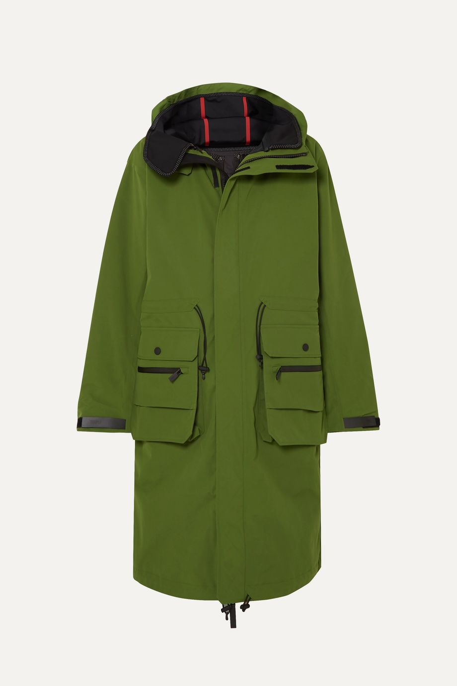 TEMPLA 2L Bio Moss hooded padded canvas parka