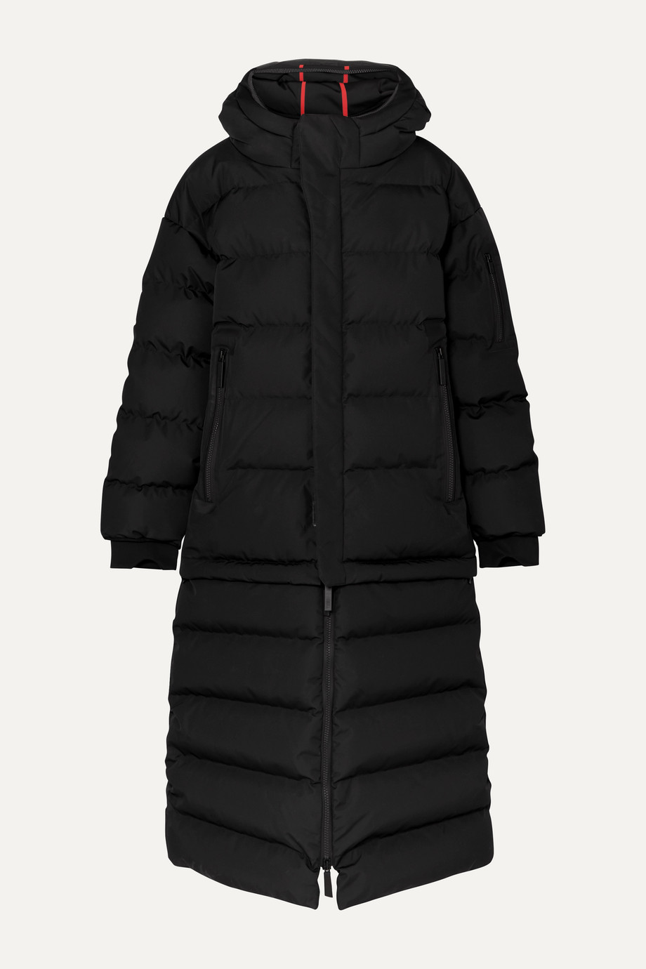TEMPLA 3L Mor oversized convertible hooded quilted shell down coat