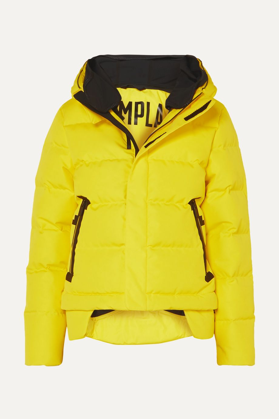 TEMPLA 2L Bio cropped hooded quilted shell down jacket