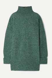Mia mélange ribbed-knit turtleneck sweater