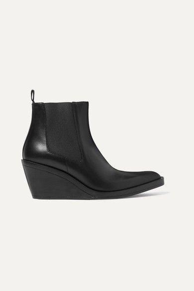 Bleeker Leather Wedge Ankle Boots by Acne Studios
