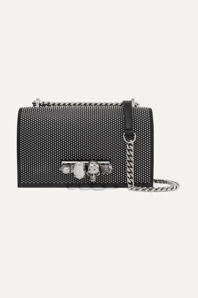 get online cozy fresh discount collection Jewelled Satchel embellished studded leather shoulder bag