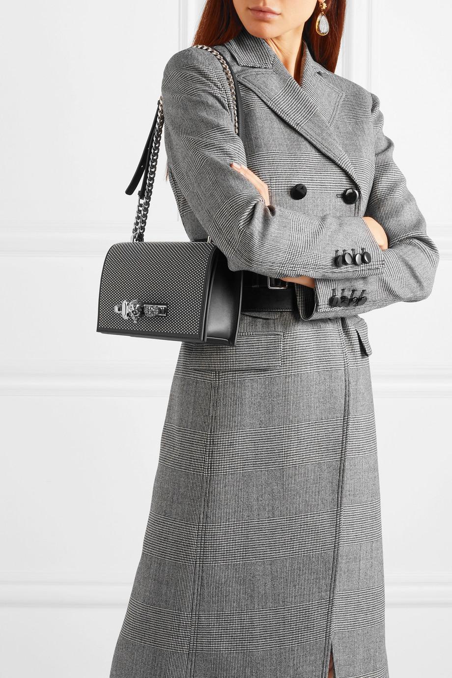 Alexander McQueen Jewelled Satchel verzierte Schultertasche aus Leder mit Nieten