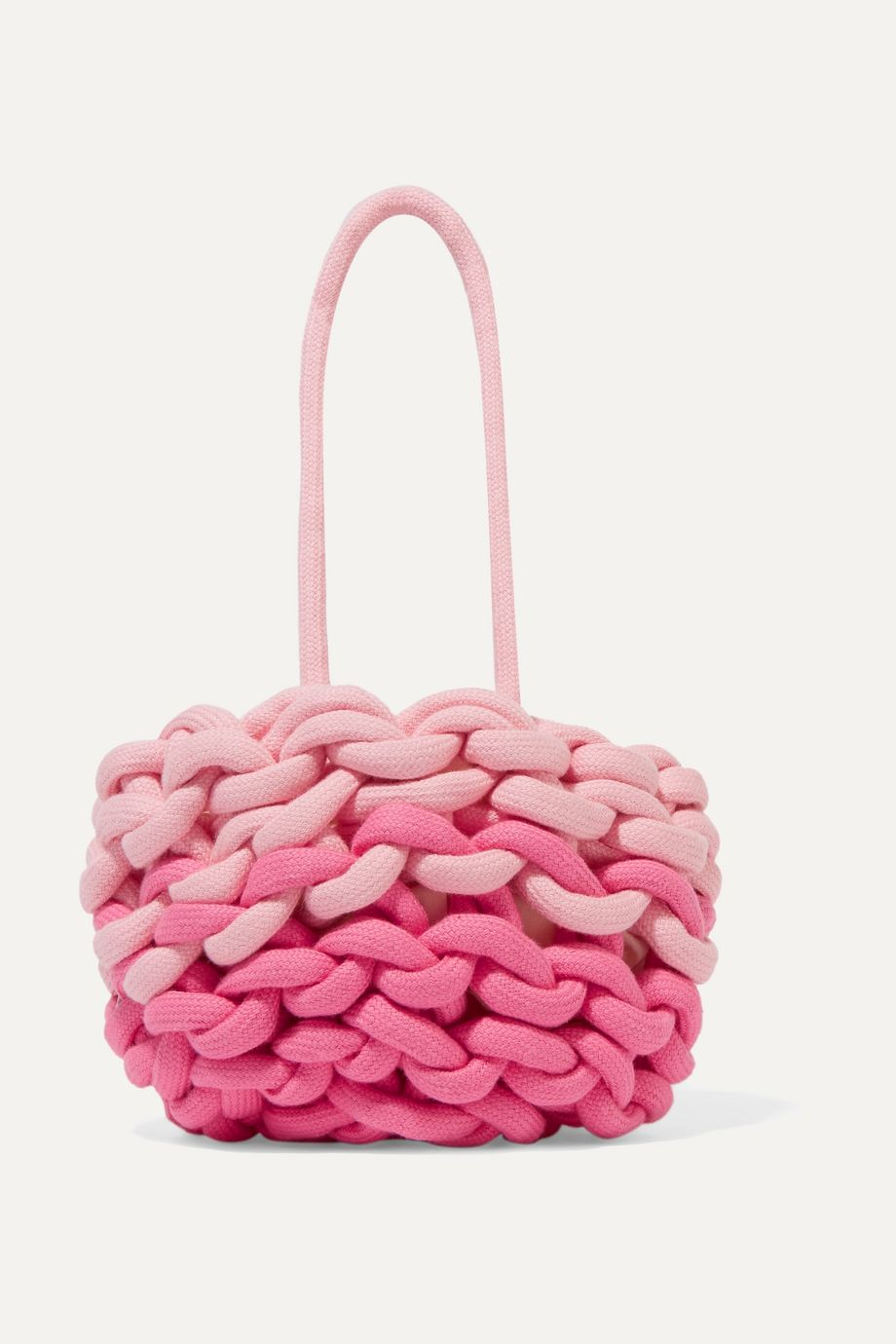 Alienina Kids Two-tone woven organic cotton bucket bag