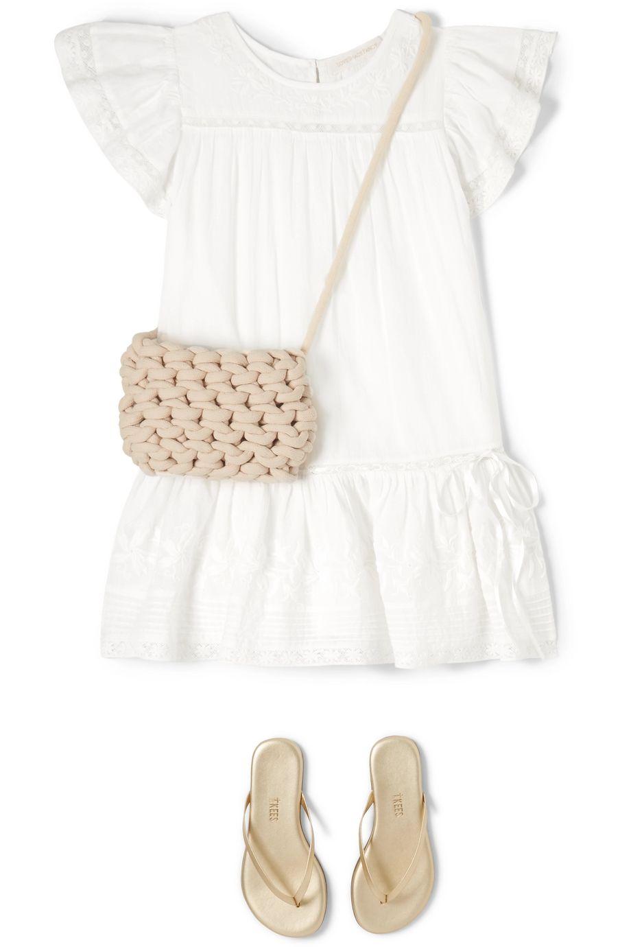 Alienina Kids Woven cotton shoulder bag