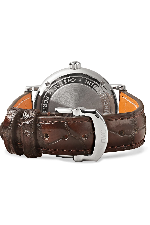 IWC SCHAFFHAUSEN Portofino Automatic 34 毫米钻石精钢腕表(短吻鳄鱼皮表带)