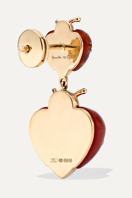 Yvonne Léon 18-karat gold, agate and diamond earrings