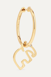 Yvonne Léon 9-karat gold diamond earring