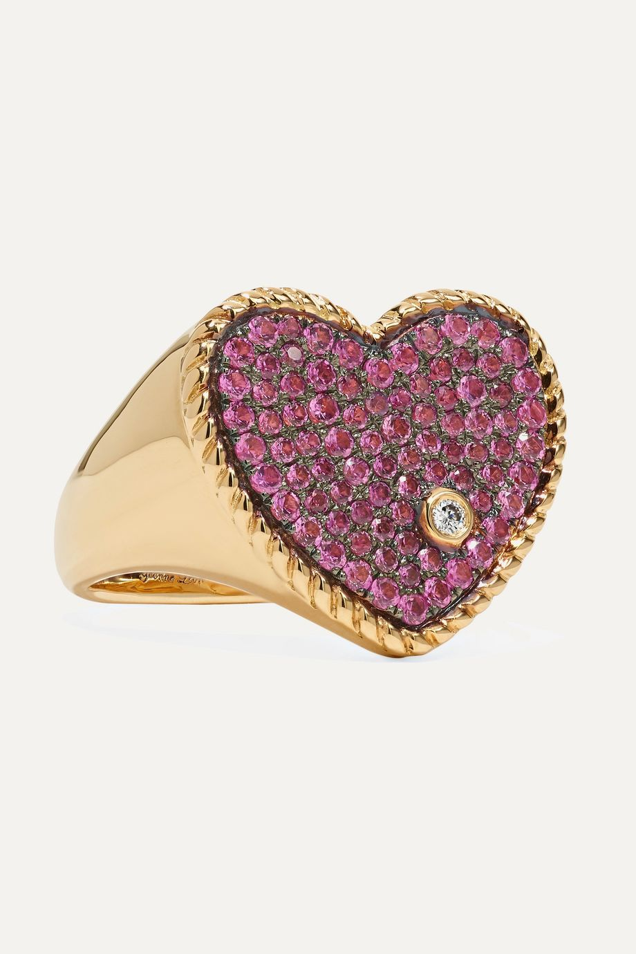 Yvonne Léon 18-karat gold, sapphire and diamond ring