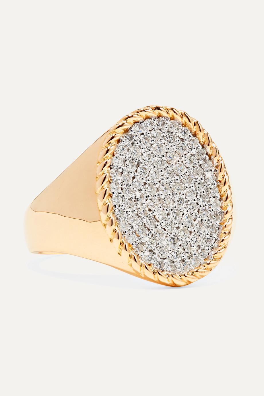 Yvonne Léon Bague en or 18carats et diamants